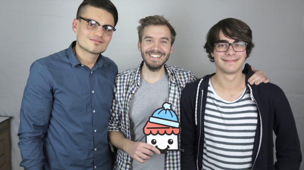 Robert Heße und Paul Schwarz nach der ersten Video Produktion von prandible