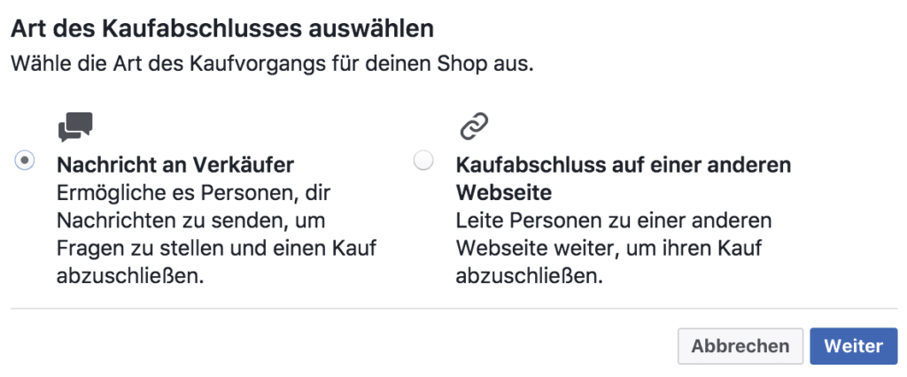 Facebook Produkte verkaufen