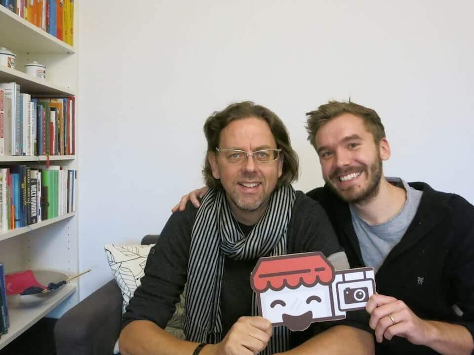 Fotograf Rainer Hoheisel und Paul von Prandible bei der Website Challenge