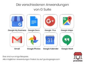 Anwendungen G Suite