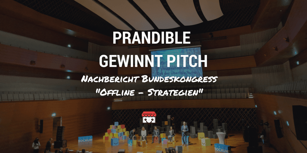 prandible gewinnt startup pitch beim Bundeskongress Offline Strategien