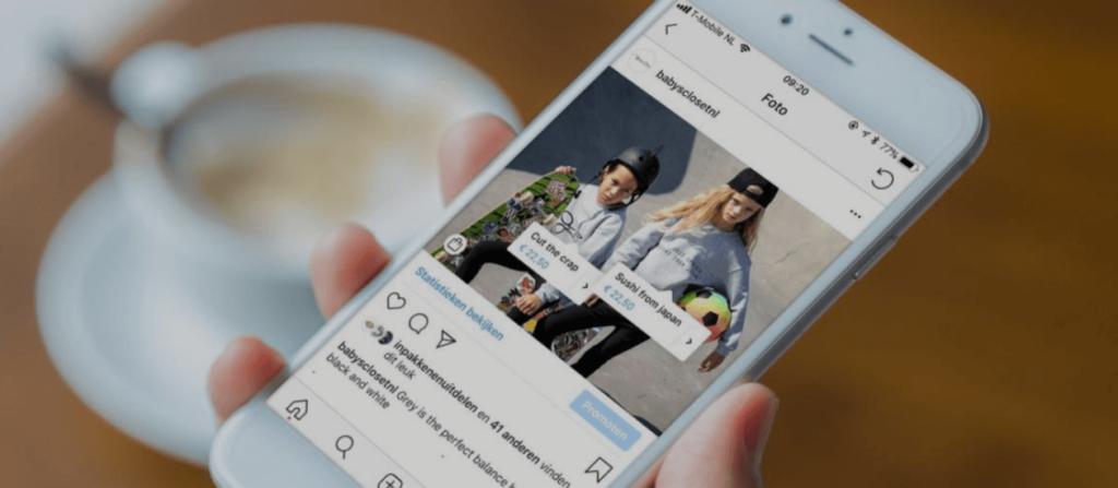 Instagram Shopping App mit markierbaren Produkten