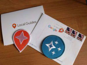 Badges und Aufnäher von Google Local Guides Programm