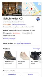 Google My Business von Schuh Keller