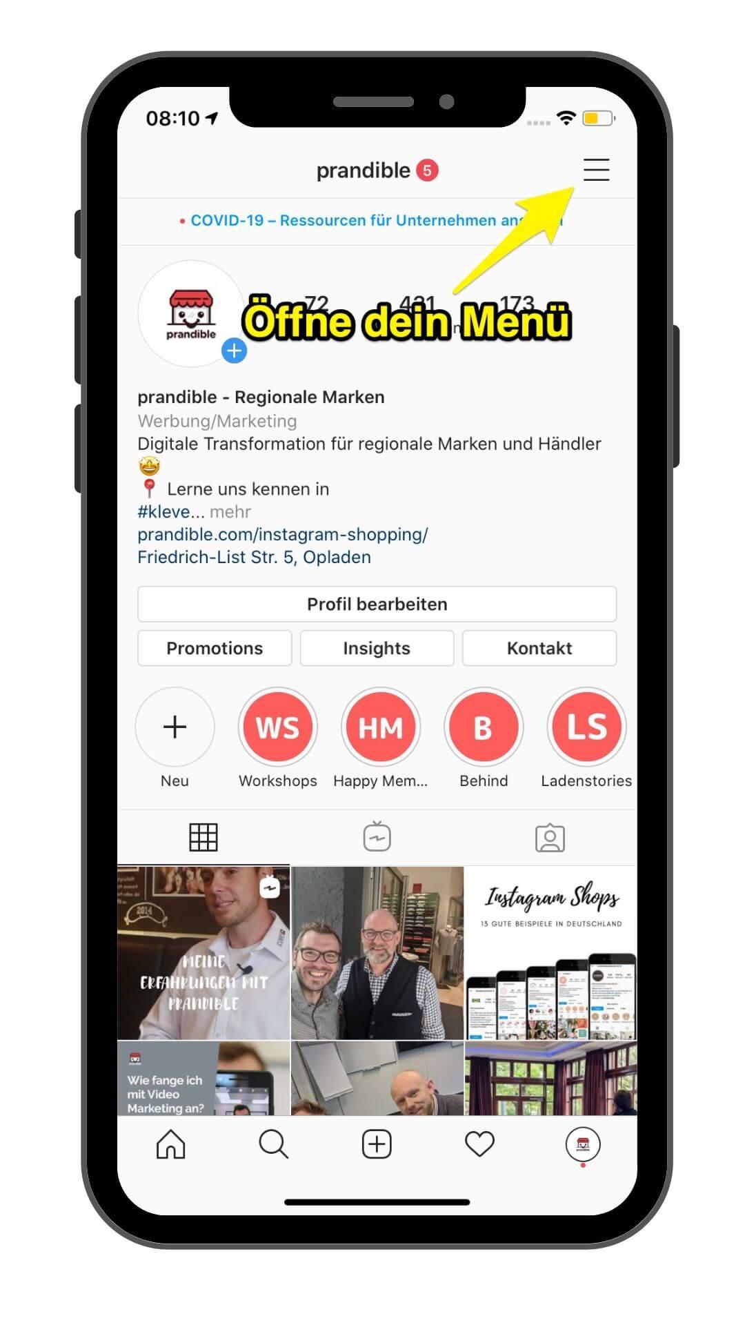 20 Schritte für Instagram Shopping TOP Anleitung aus 20