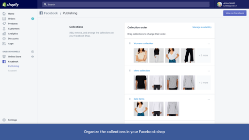 Facebook Shopping Shopify