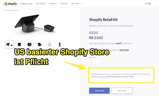 Kassensystem Shopify