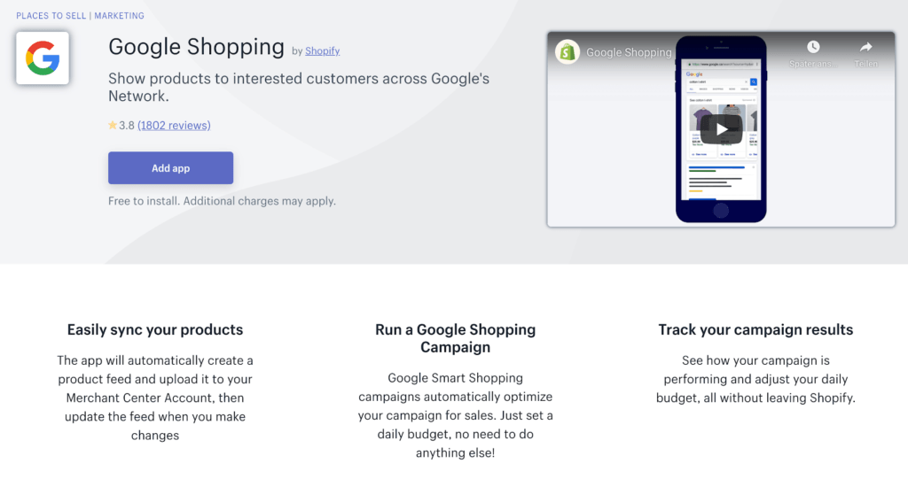 Shopify_Google Shopping App