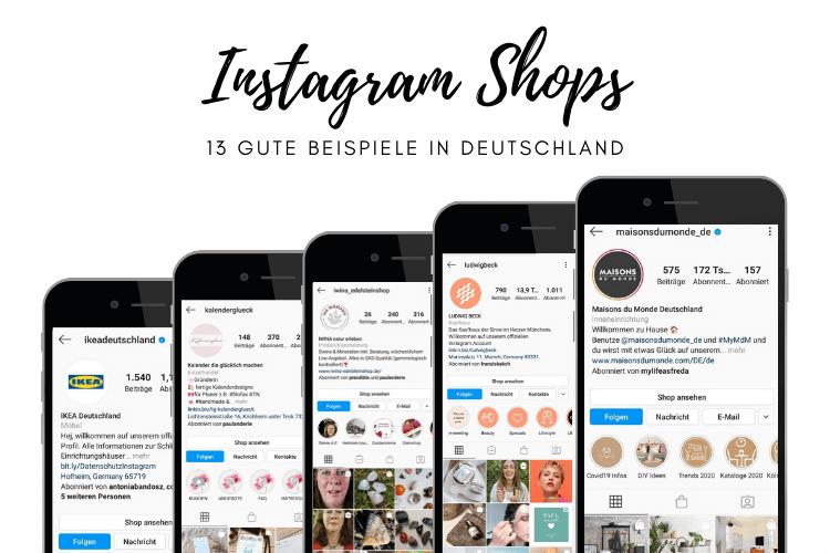Instagram Shops Beispiele