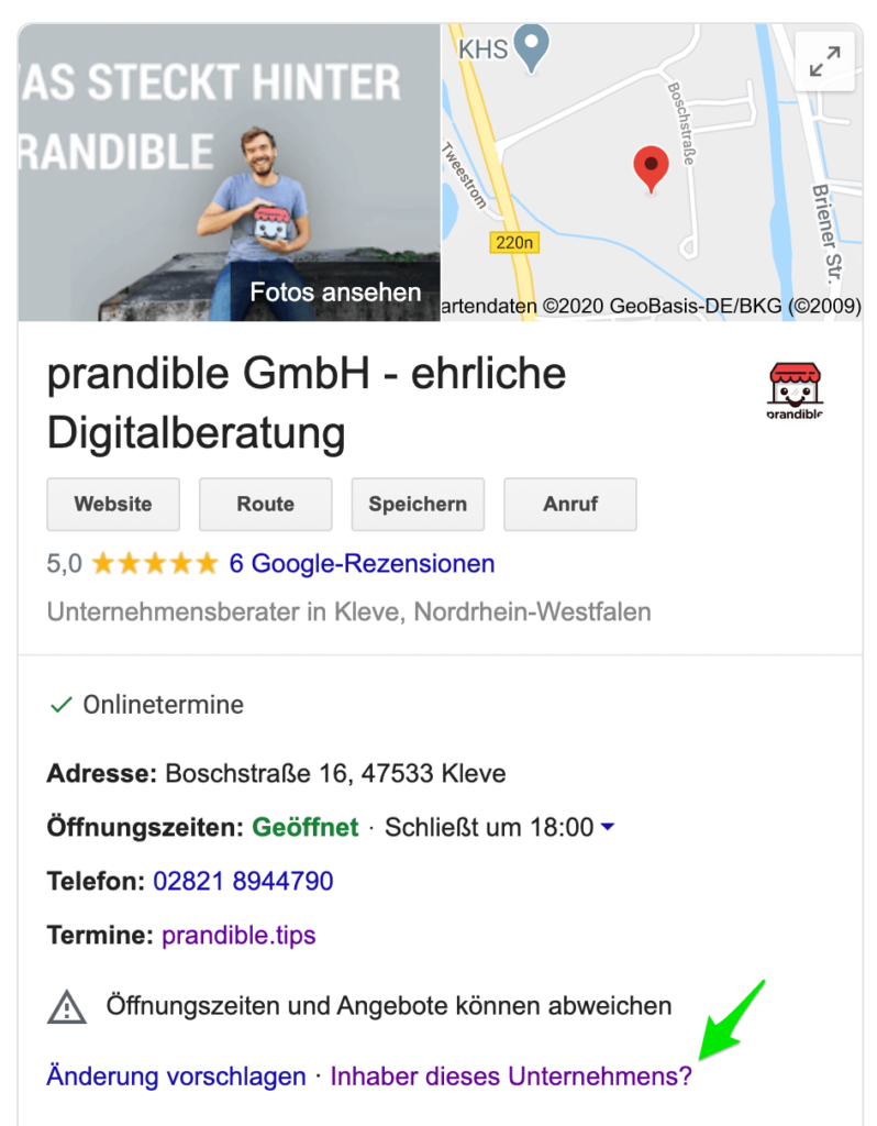 Google My Business Einträge zusammenführen