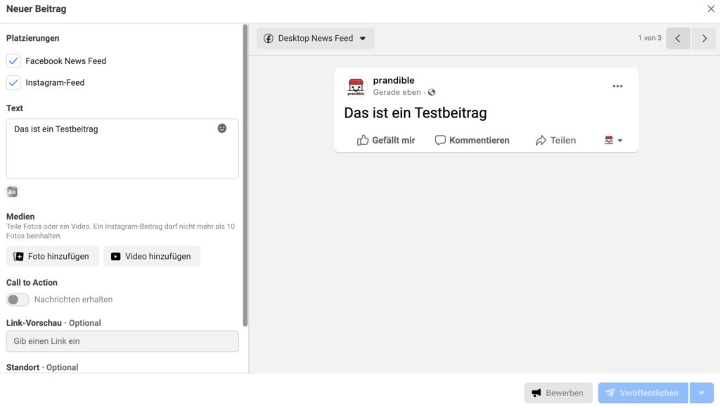 Facebook-Business-Suite-Beitrag-erstellen