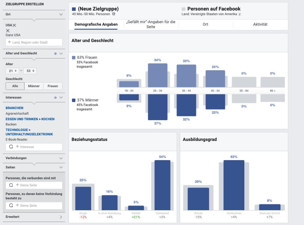 Facebook-Audience-Insights-Alter-Geschlecht-Beziehungsstatus-Ausbildungsgrad