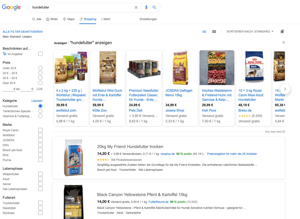 Google-Shopping-Anzeige-Google-Shopping-auf-Google Shopping