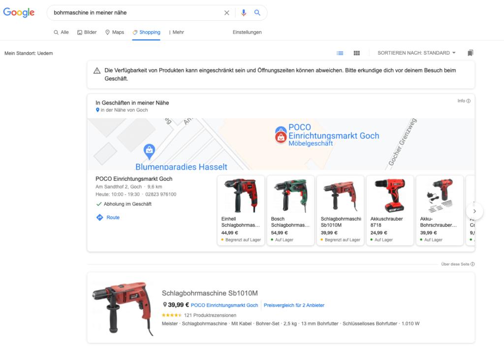 Google Shopping-Lokale-Artikel