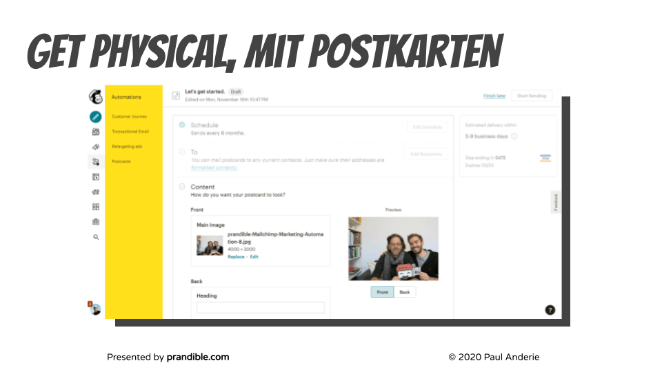 Marketing-Automatisierung-postkarten